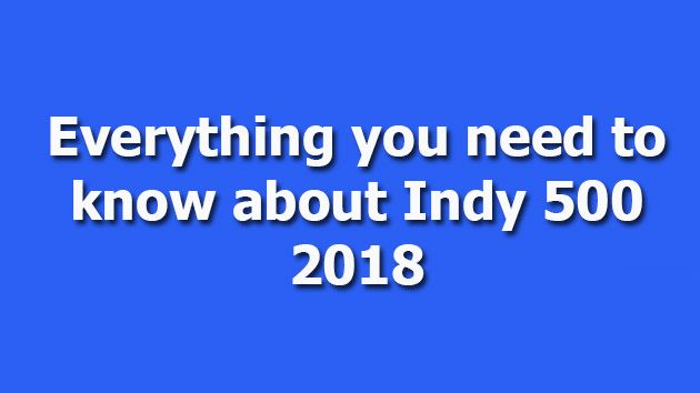 Indy 500 2018