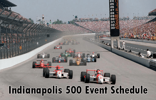 Indy 500 Schedule